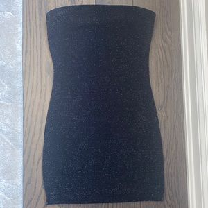 Garage glittery tube top dress in size small